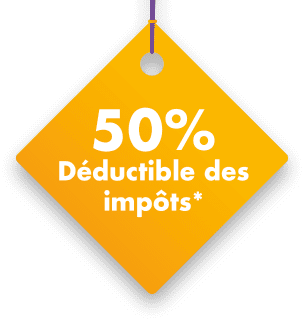 50% déductible des impôts